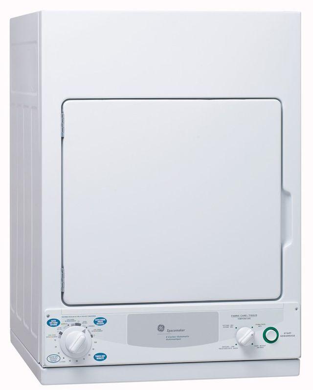 Sécheuse électrique GE® de 3,6 pi³ - Blanc-PCKS443EBWW