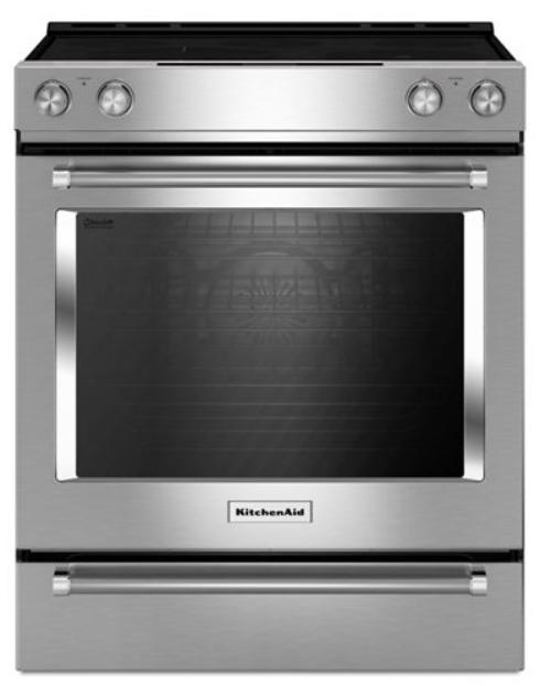 Cuisinière électrique encastrée de 30 po KitchenAid® de 6,4 pi³ - Acier inoxydable-YKSEG700ESS