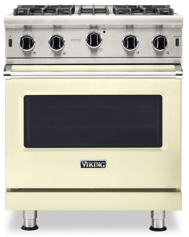 "Viking® 5 Series 30"" Vanilla Cream Pro Style Liquid Propane Gas Range-VGIC53024BVCLP"