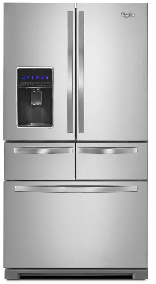 Whirlpool® 25.76 Cu. Ft Monochromatic Stainless Steel French Door Refrigerator-WRV986FDEM