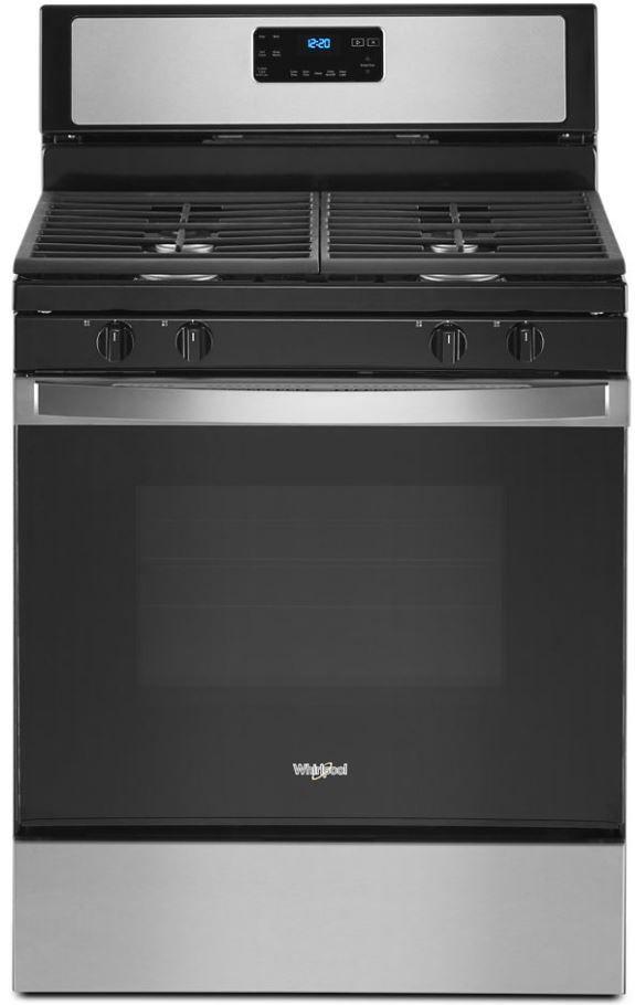 "Whirlpool® 30"" Stainless Steel Free Standing Gas Range-WFG515S0JS"