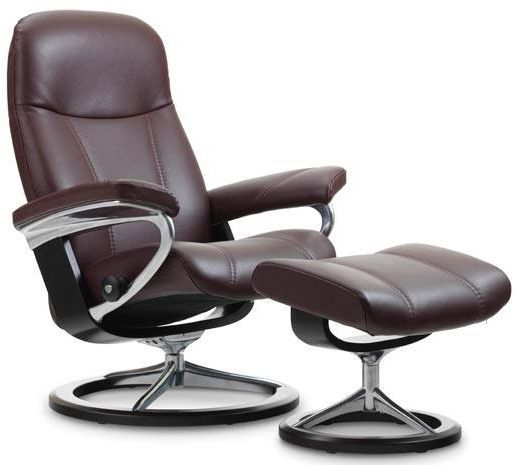 Stressless® by Ekornes® Consul Large Signature Base Chair and Ottoman-1020315