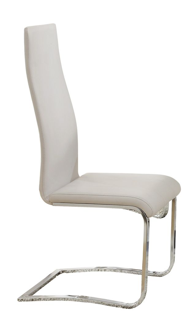 Coaster® Anges High Back Dining Chairs White And Chrome (Set Of 4)-100515WHT