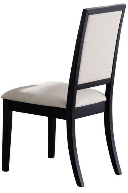 Coaster® Louise Black And Cream Dining Side Chair-101562