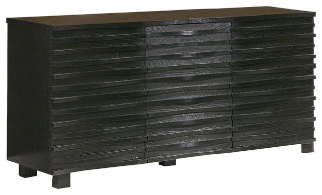 Coaster® Stanton Black Server-102065