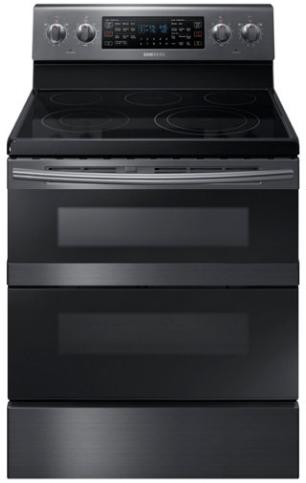 """Samsung 30"""" Freestanding Electric Range-Fingerprint Resistant Black Stainless Steel-NE59M6850SG"""