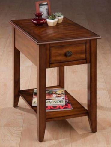 Jofran Inc. Medium Brown Chairside Table-1031-7