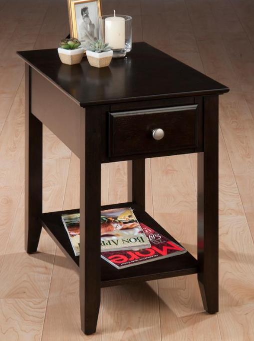 Jofran Inc. Espresso Casual Chairside End Table-1037-7