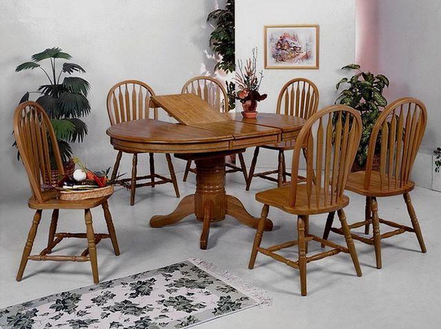 5 Pc Crown Mark Farmhouse Oval Dining Set-1052