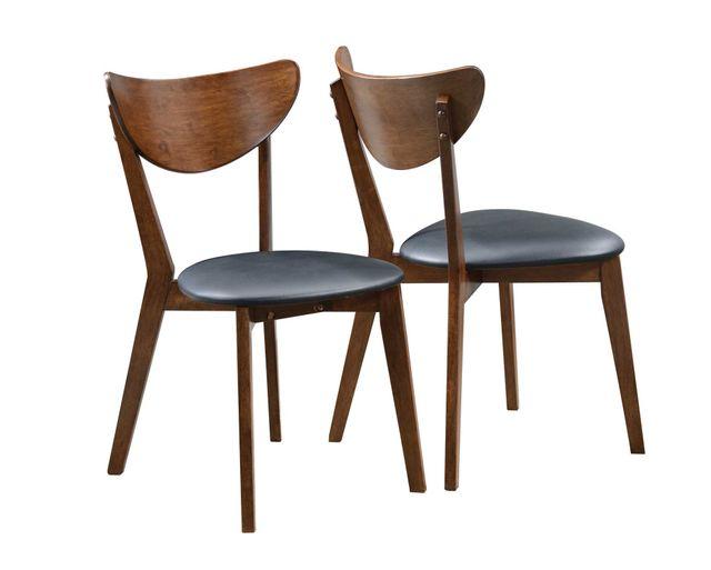 Coaster® Malone Dark Walnut Side Chair-105362