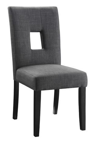 Coaster® Andenne Gray and Black Chair-106656