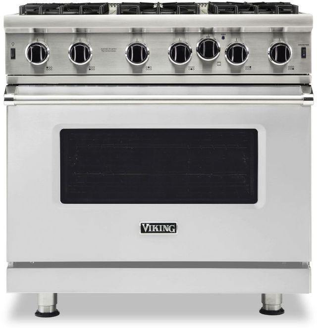 "Viking® 5 Series 36"" Stainless Steel Pro Style Gas Range-VGIC53626BSS"