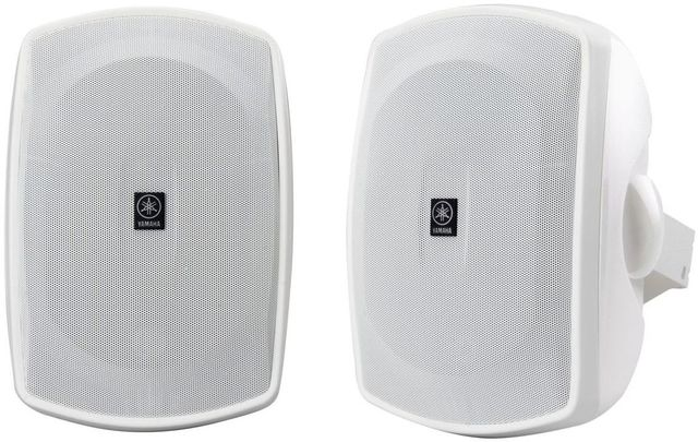 Yamaha® White Natural Sound All-Weather Outdoor Speakers-NS-AW390WH