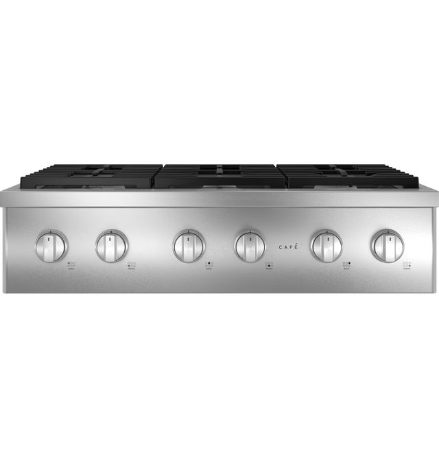"""CAFÉ™ 36"""" COMMERCIAL-STYLE GAS RANGETOP WITH 6 BURNERS (NATURAL GAS) S/D-CGU366P2TS1-SD"""
