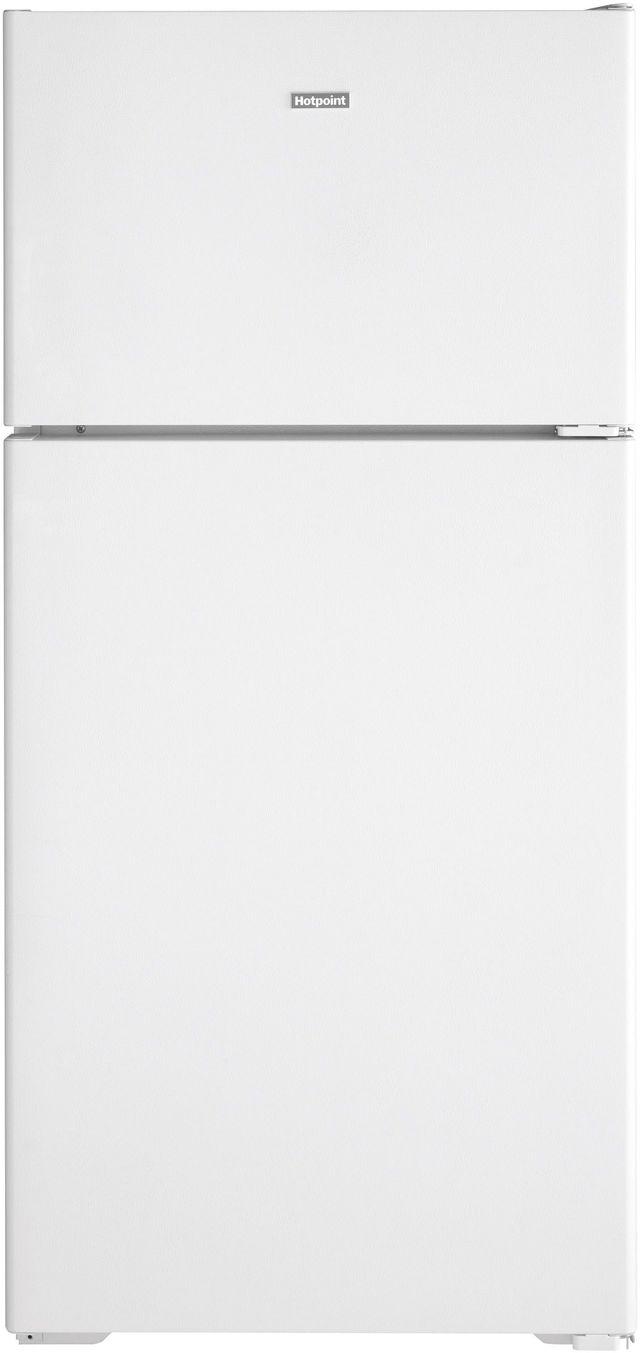Hotpoint® 15.61 Cu. Ft. White Top Freezer Refrigerator-HPE16BTNRWW