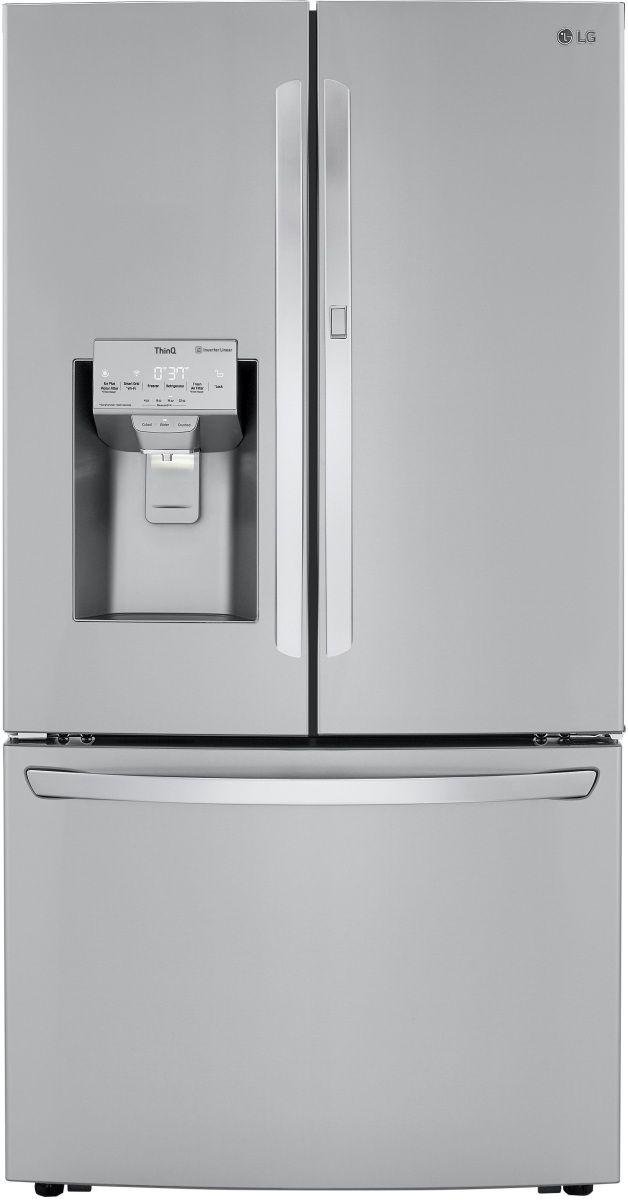 LG 24 Cu. Ft. PrintProof™ Stainless Steel Counter Depth French Door Refrigerator-LRFDC2406S