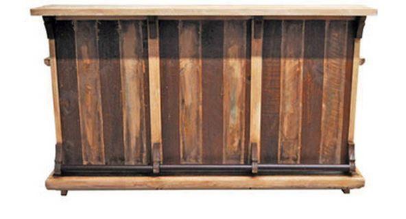 Million Dollar Rustic Slatted Wood Bar-11-2-65-65-BAR