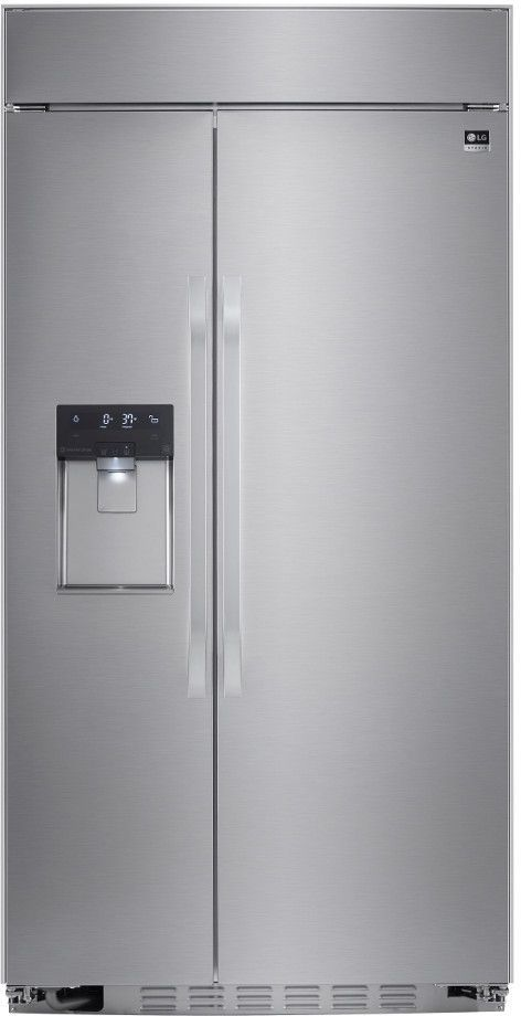 LG Studio 25.6 Cu. Ft. Stainless Steel Built-In Side-By-Side Refrigerator-LSSB2692ST