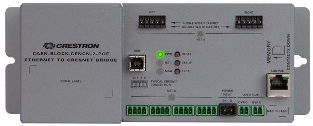 Crestron® Ethernet to Cresnet® Bridge-CAEN-BLOCK-CENCN-2-POE