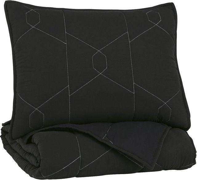 Signature Design by Ashley® Meliora Black/White/Gray Full Quilt Set-Q704003F