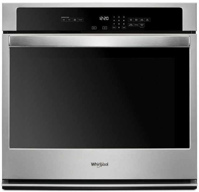"""Whirlpool® 27"""" Stainless Steel Electric Built In Single Wall Oven-WOS31ES7JS"""