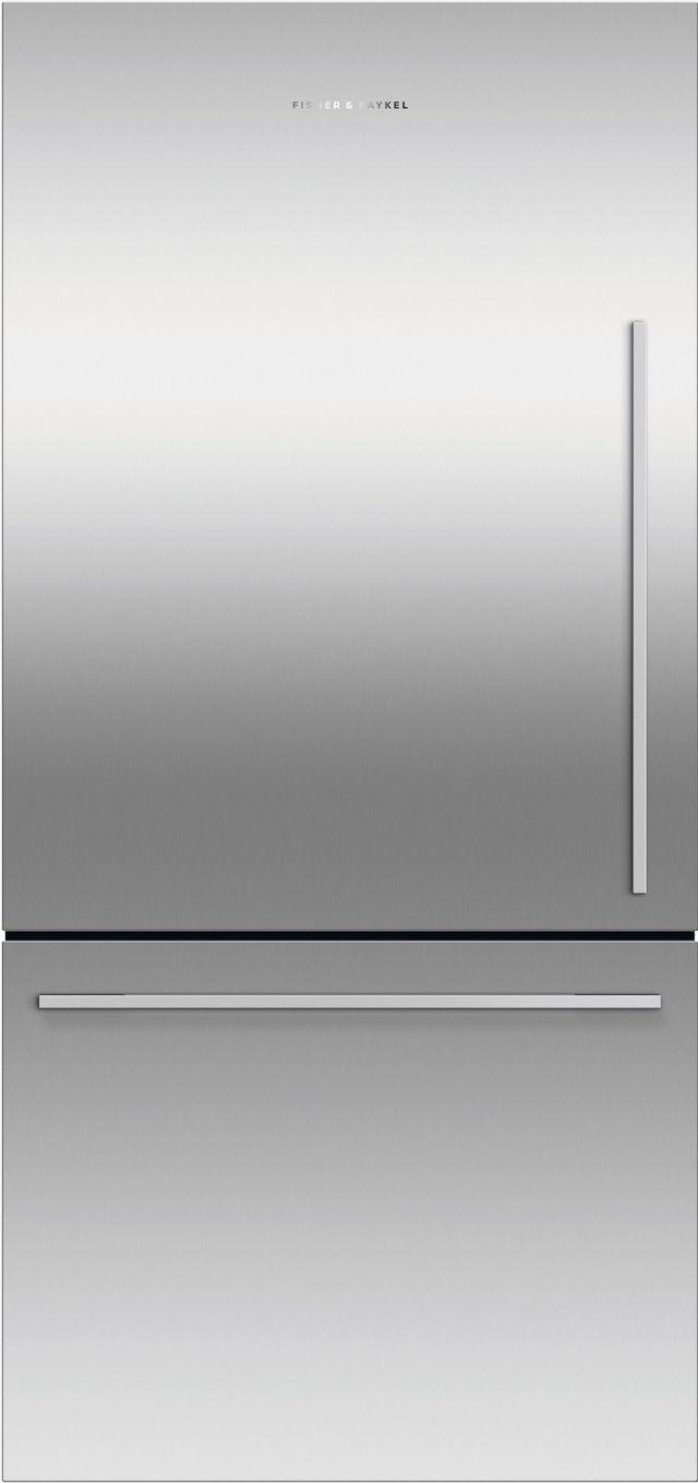 Réfrigérateur à congélateur inférieur à profondeur de comptoir de 32 po Fisher Paykel® de 17,1 pi³ - Acier inoxydable-RF170WDLX5 N