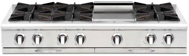 "Capital Culinarian 48"" Stainless Steel Gas Range Top-CGRT484G2N"