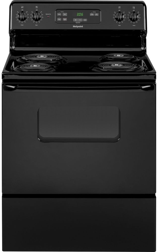 "Hotpoint® 30"" Black Free Standing Electric Range-RBS360DMBB"