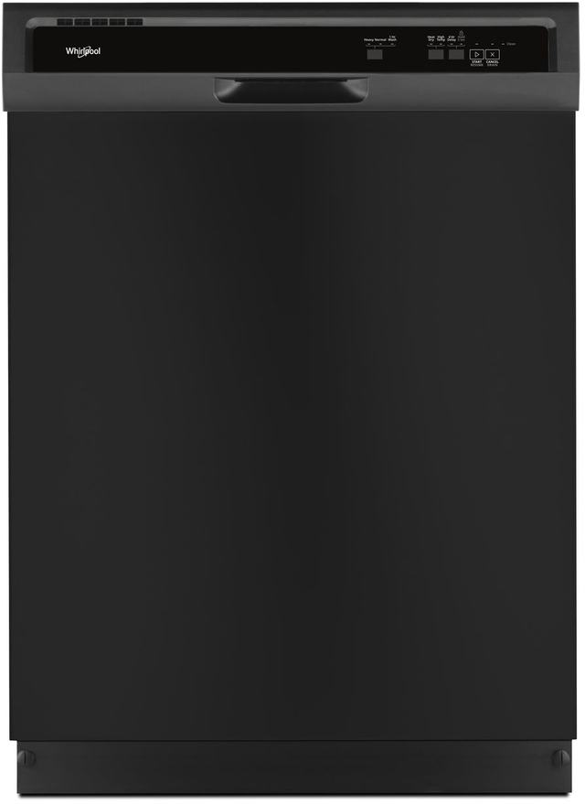 "Whirlpool® 24"" Built-In Dishwasher-Black-WDF331PAHB"