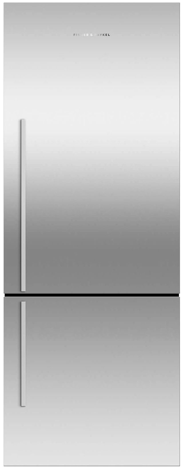 Fisher & Paykel 13.5 Cu. Ft. Counter Depth Bottom Freezer Refrigerator-EZKleen Stainless Steel-RF135BDRX4 N