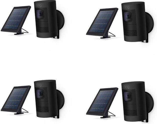 Ring 4 Pack Black Stick Up Cam Solar-20658071666777