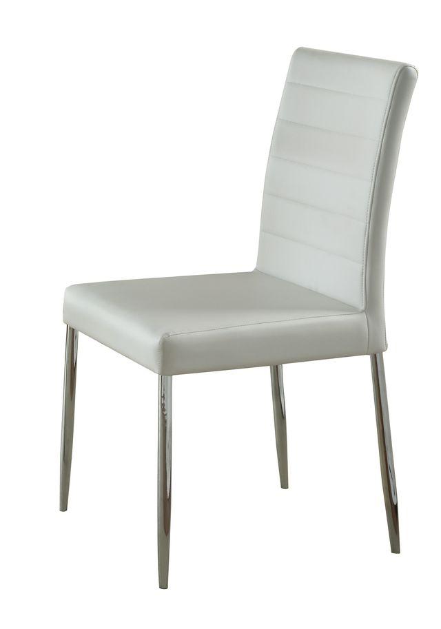 Coaster® Vance White Upholstered Dining Chair-120767WHT