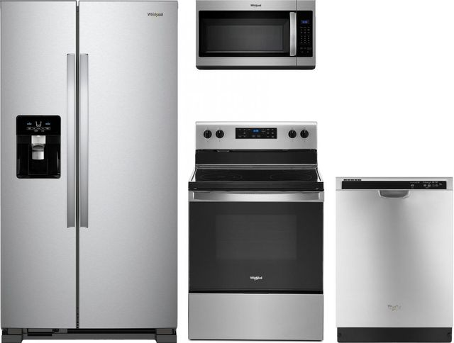 Whirlpool® 4 Piece Kitchen Package-Stainless Steel-WHKITWDF520PADM