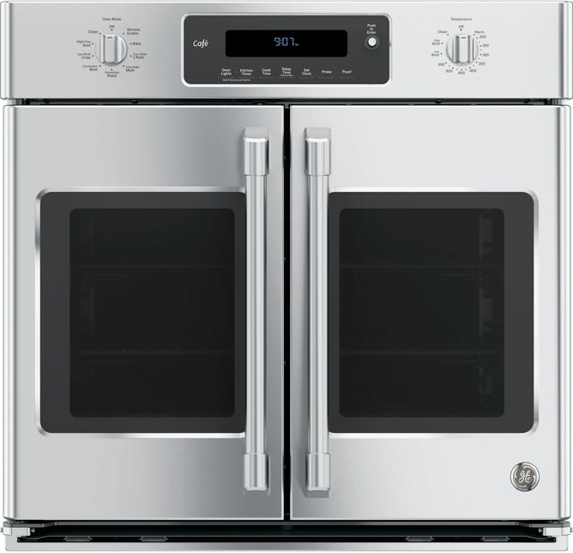 """GE Cafe™ Series 30"""" Electric Single Oven Built In-Stainless Steel - floor model-CT9070SHSS"""