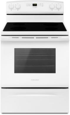 Cuisinière électrique autoportante de 30 po Amana® de 4,8 pi³ - Blanc-YAER6303MFW
