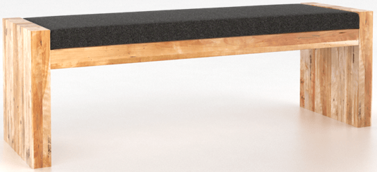 Banc Loft en tissu brun clair Canadel®-BEN050746C81R18