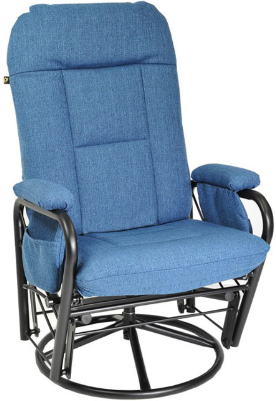 Fauteuil inclinable EKO en tissu bleu PEL International®-183109