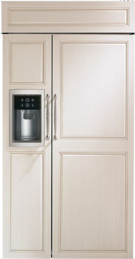 GE® Monogram® 25 Cu. Ft. Built-In Side-by-Side Refrigerator-Panel Ready-ZISB420DH