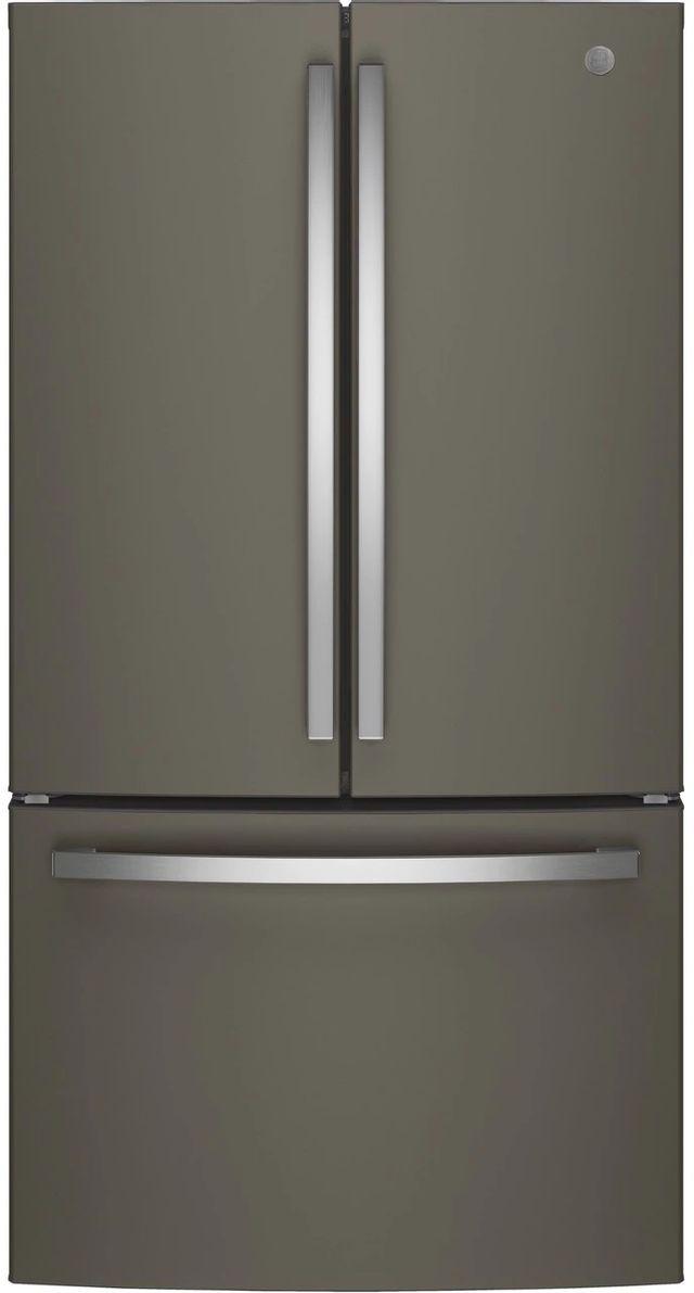 GE® 27 Cu. Ft. French Door Refrigerator-Slate-GNE27JMMES