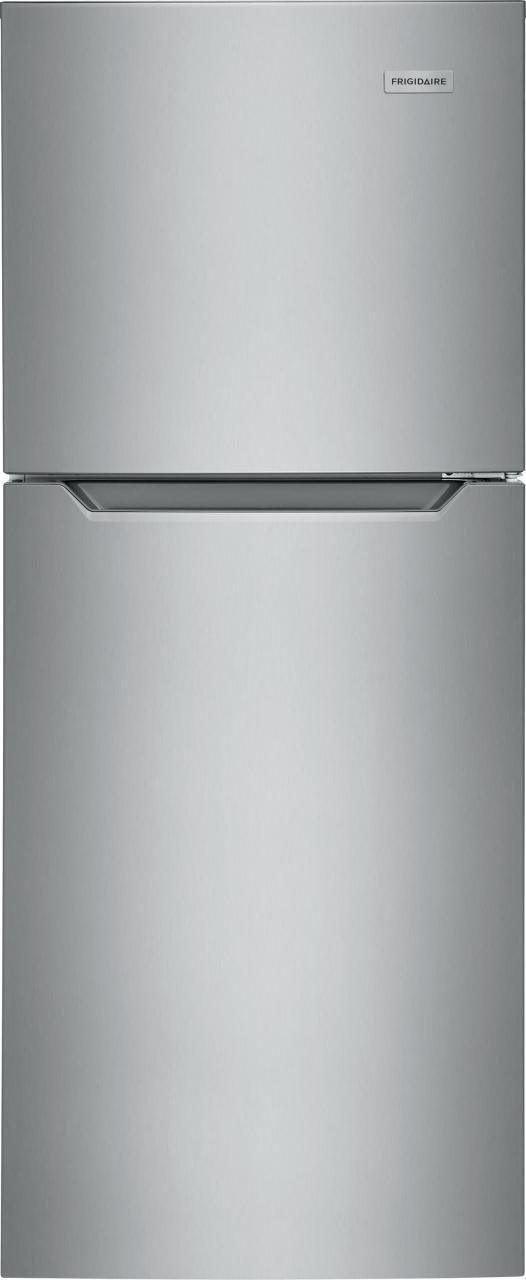 Frigidaire® 10.1 Cu. Ft. Brushed Steel Top Freezer Refrigerator-FFET1022UV