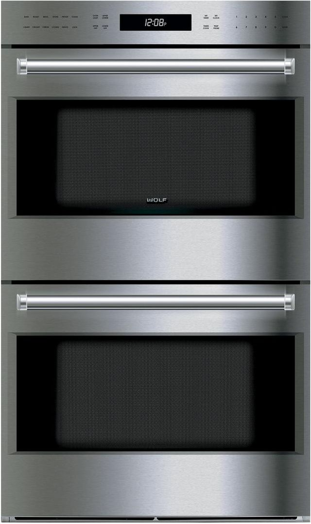 """Wolf® E Series 30"""" Electric Double Oven Built In-Stainless Steel-DO30PE/S/PH"""