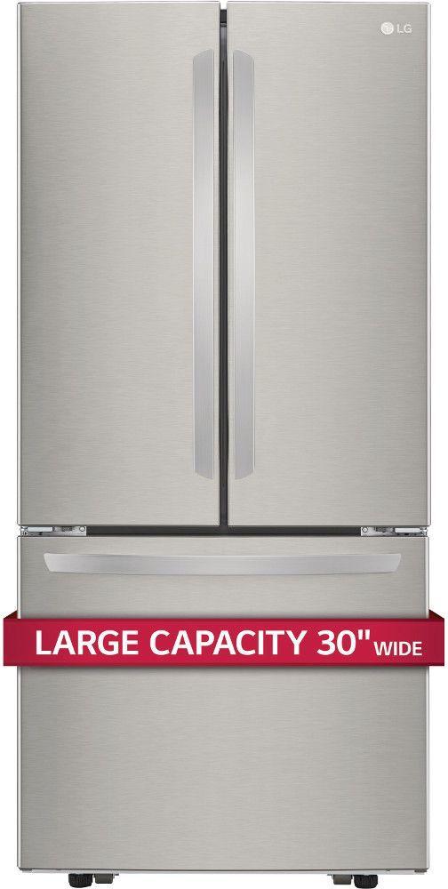 LG 21.8 Cu. Ft. 3-Door French Door Refrigerator-Stainless Steel-LFCS22520S