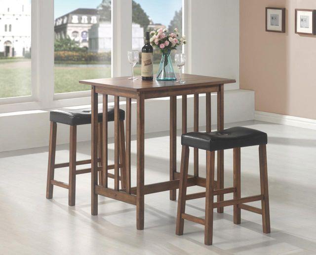 Coaster® Bar Units and Bar Tables 3 Piece Bar Table and Stool Set-130004