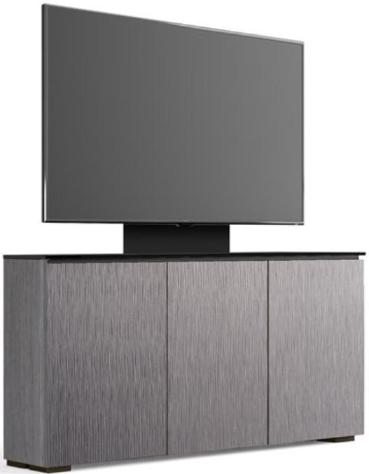 Salamander Designs® Chameleon Seattle Low Profile 337M Alpi Gray Oak With TV Mount AV Cabinet-C1/SE337M/GO