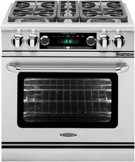 """Capital Connoisseurian 30"""" Stainless Steel Free Standing Dual Fuel Range-CSB304N"""