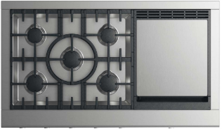 """DCS 48"""" Professional Natural Gas Cooktop-Stainless Steel-CPV2-485GD-N"""
