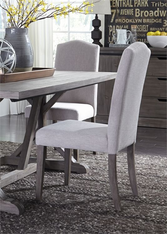 Liberty Furniture Carolina Lakes Distressed Gray Dining Side Chair-140-C6501S-T