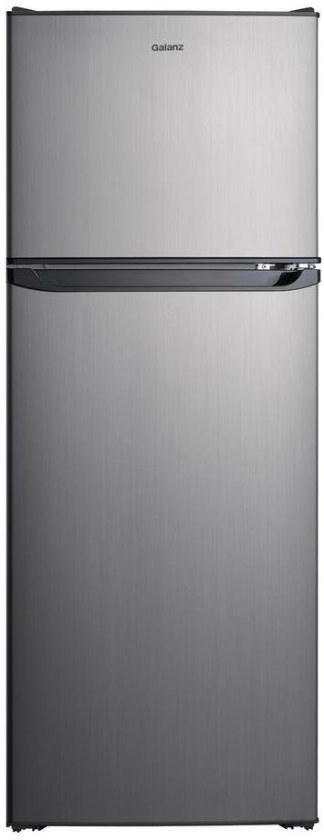Galanz 10.02 Cu. Ft. Stainless Steel Look Top Mount Freezer Refrigerator-GLR10TS5EF