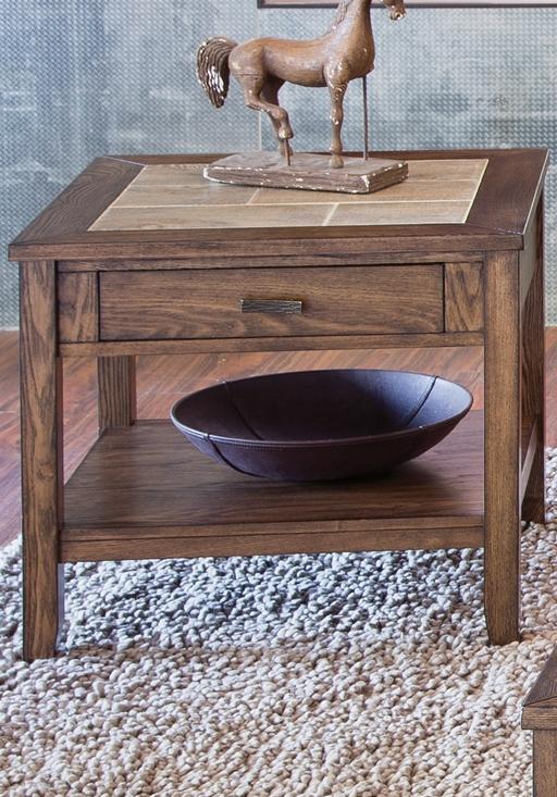 Liberty Furniture Mesa Valley Tobacco End Table-147-OT1020