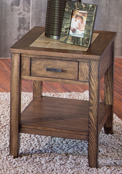 Liberty Furniture Mesa Valley Tobacco Chair Side Table-147-OT1021